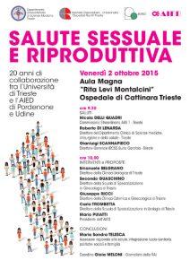 20 anni di salute riproduttiva Convegno aied al Cattinara di Trieste 2015 manchette