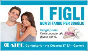 2015 11 AIED Genova: Campagna per la contraccezione, manifesti e locandine