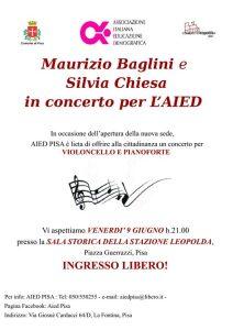 Locandina concerto Aied Pisa